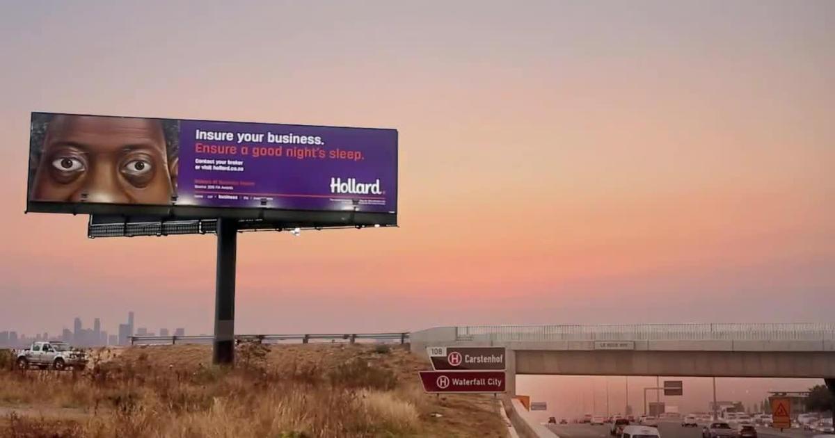 Спящие билборды прорекламировали страховые услуги.