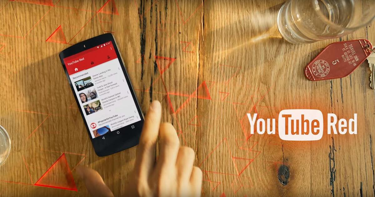 YouTube представил платный сервис без рекламы «YouTube Red».