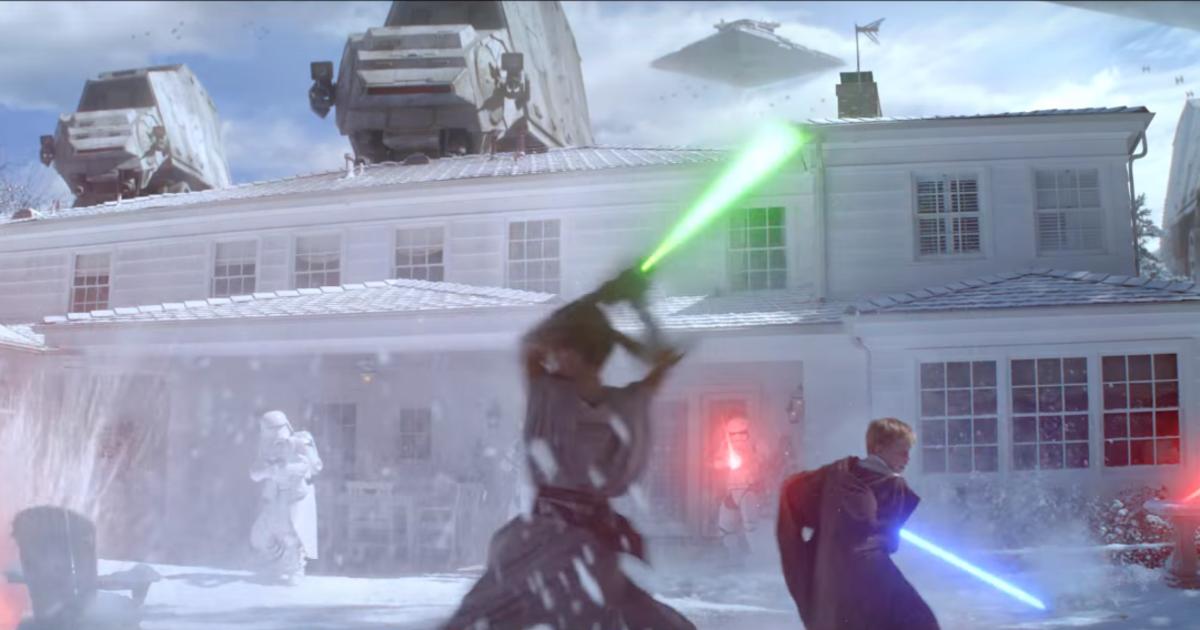 Duracell устроил «Звездные войны» во дворе загородного дома.