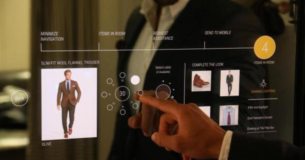 Ralph Lauren представил умные примерочные с интерактивными зеркалами.