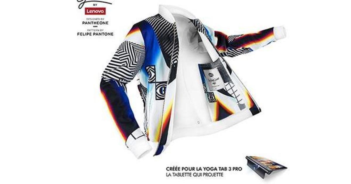 Lenovo трансформировали куртку в экран для проектора.