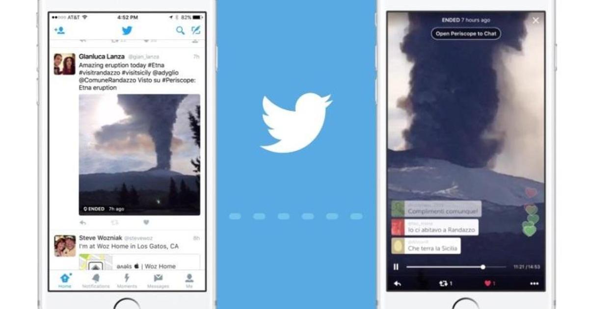 Twitter интегрировался с Periscope.