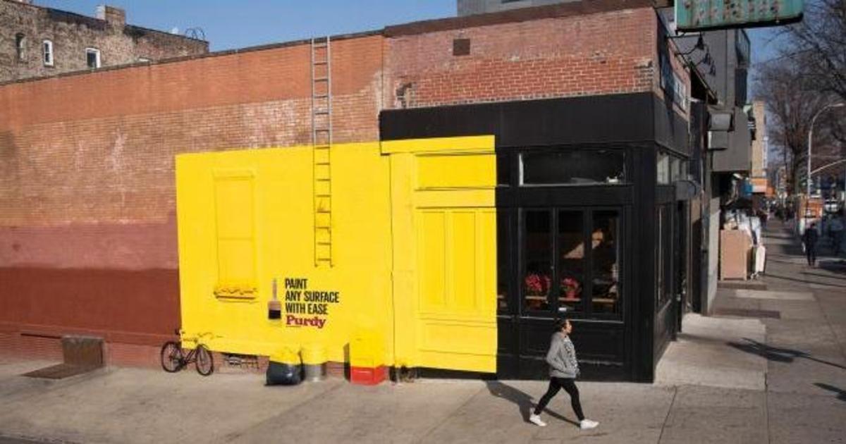 Deutsch превратили часть здания в билборд, рассказав о бренде кистей.