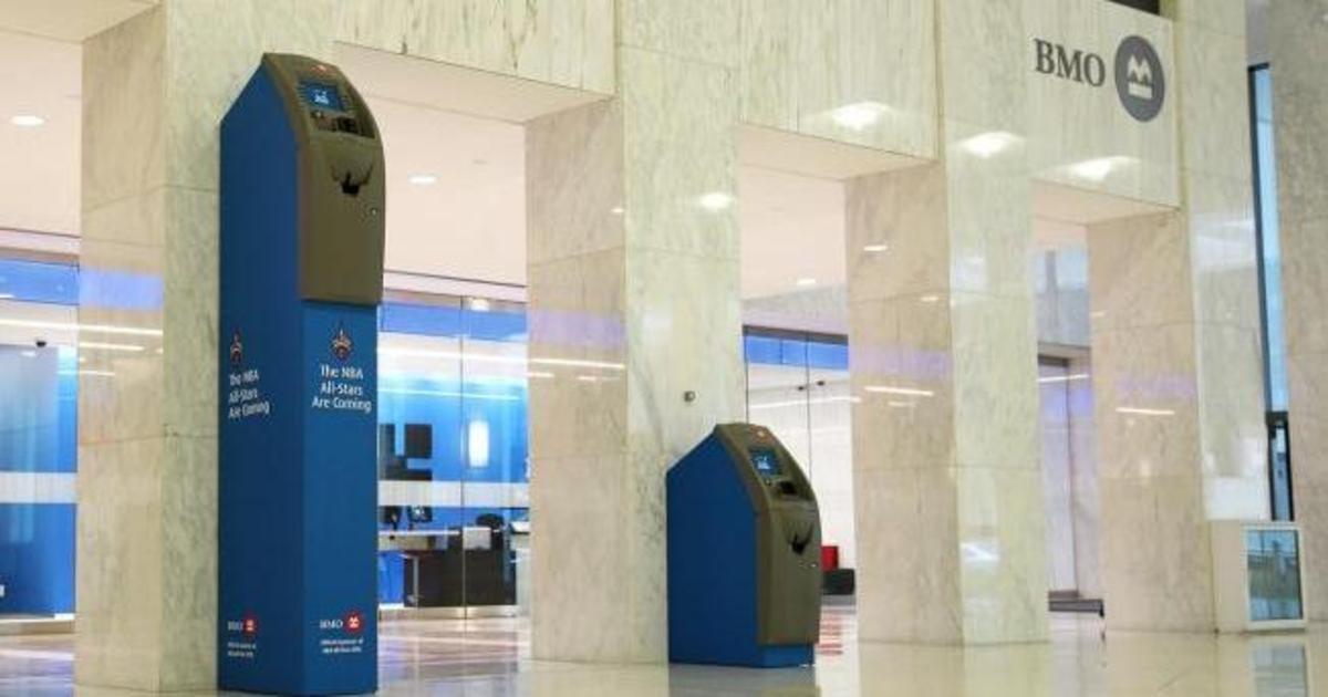 Банк установил гигансткий банкомат в честь Матча всех звёзд НБА.