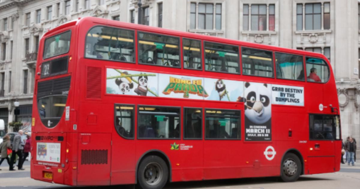 Fox впервые использовал iBeacon в автобусах для продвижения Кунг-фу Панды.