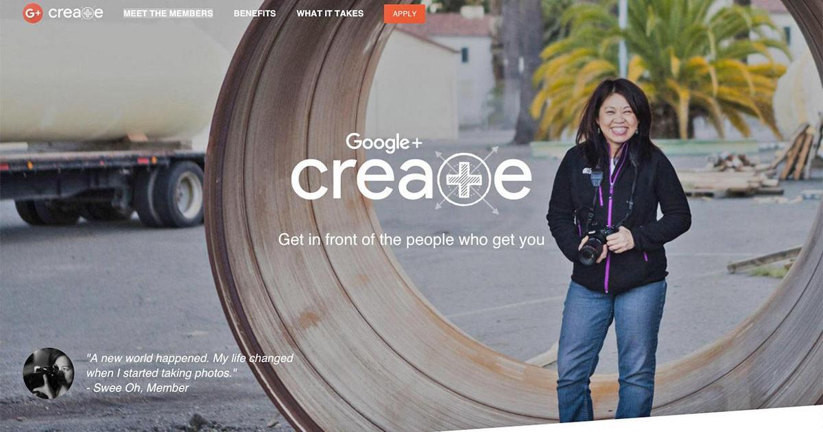 Google+ поощряет создателей контента с помощью программы Create.