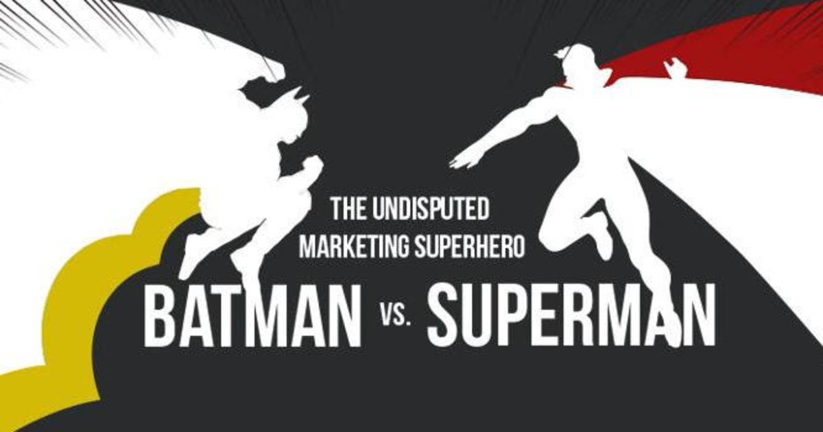 Инфографика: Бэтмен vs Супермен — кто лучше с точки зрения маркетинга?