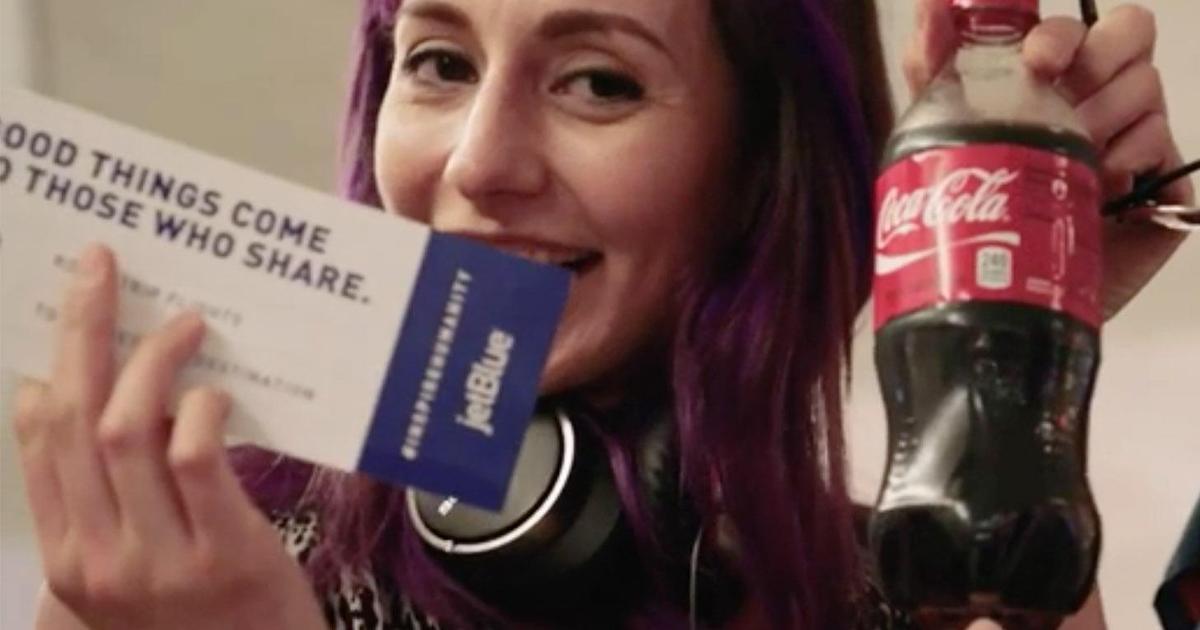 Coca-Cola и JetBlue проверили уровень доброты пассажиров.