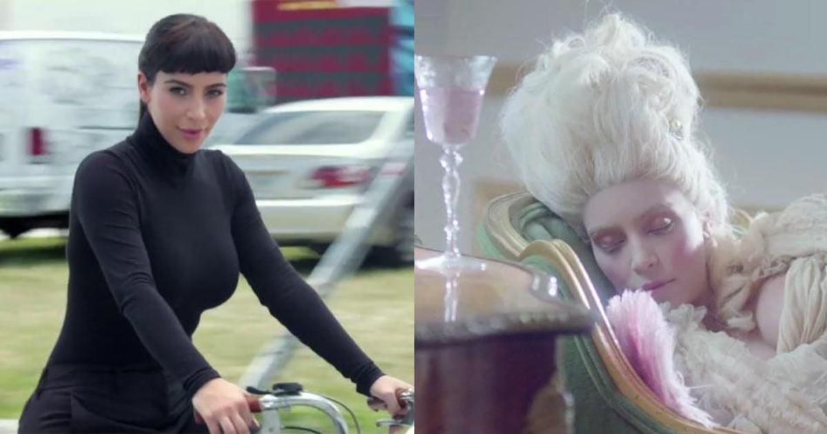 Ким Кардашьян примерила образ Одри Хепберн в рекламе энергетика.