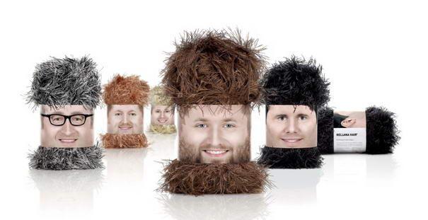 Упаковки шерсти в виде волос – дизайн Ogilvy, Deutschland.