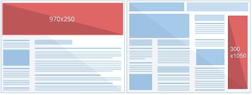 Команда Google AdSense сообщила о том, что у владельцев аккаунтов появилась возможность использовать 2 новых формата рекламных блоков