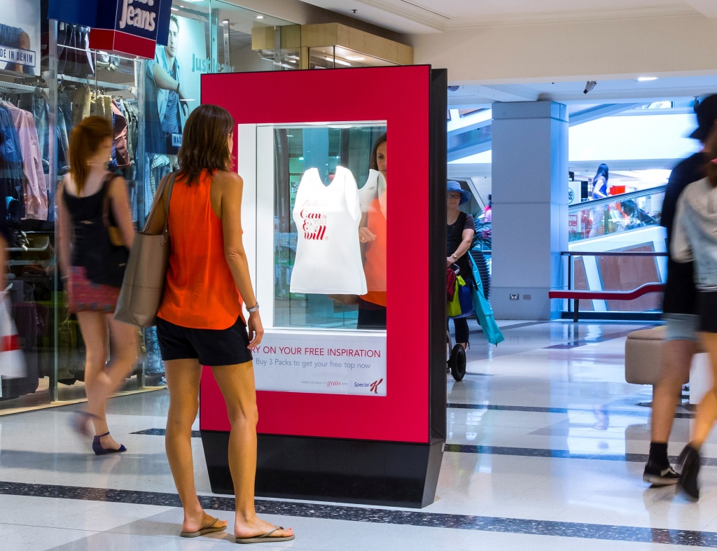 Компания Kellogg's провела в торговых центрах Австралии рекламную кампанию хлопьев Special K, в которой использовались зеркала в ситиформатах.