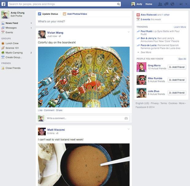 Крупнейшая в мире соцсеть Facebook начинает запускать обновленный дизайн ленты новостей