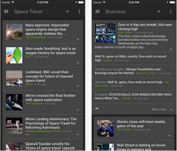 Google портировал Google News & Weather с Android на iOS.