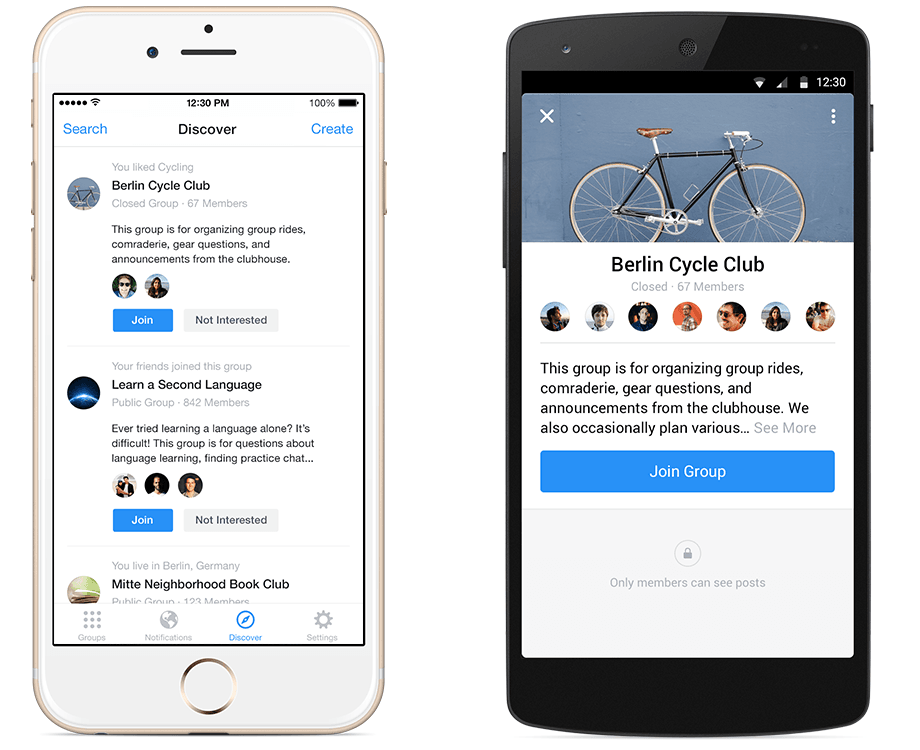 Facebook запустил отдельное приложение для сервиса Groups