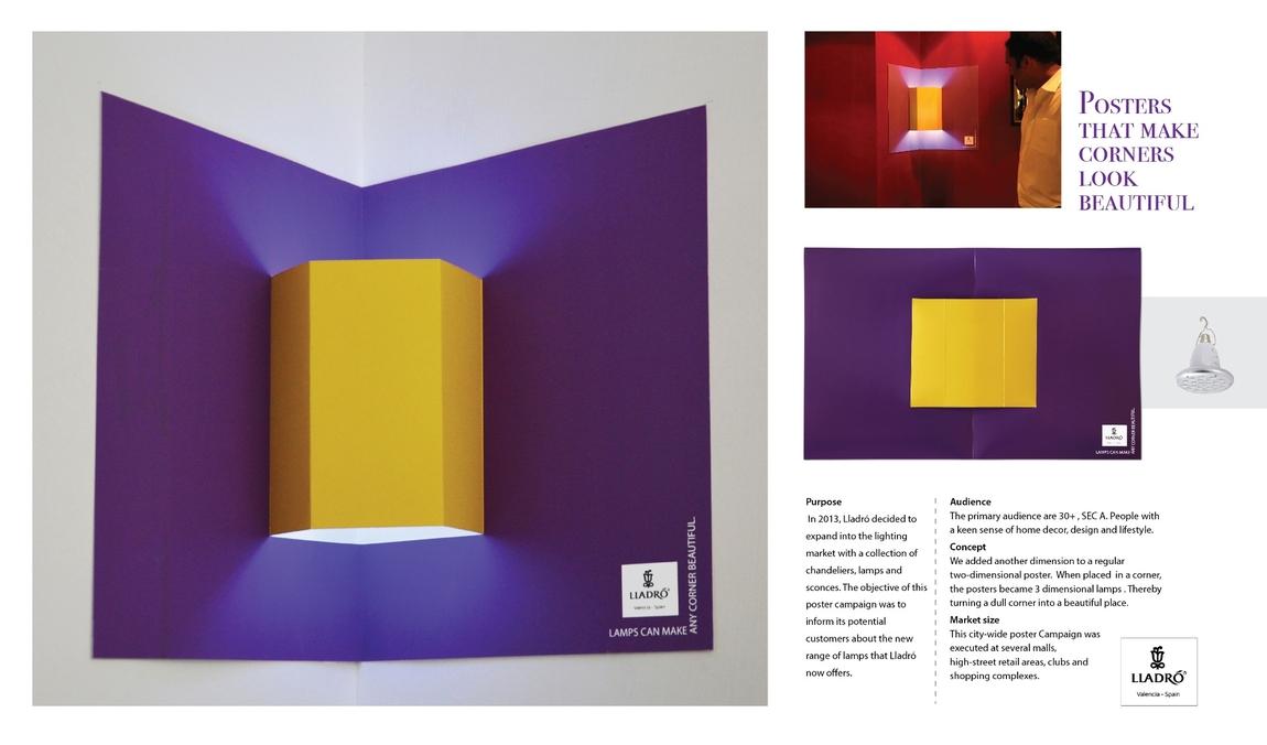 Индийское рекламное агенство Crayons Advertising выпустило серию стильных разноцветных плакатов-раскладок