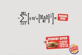 Burger King раздает вопперы в ответ на знания