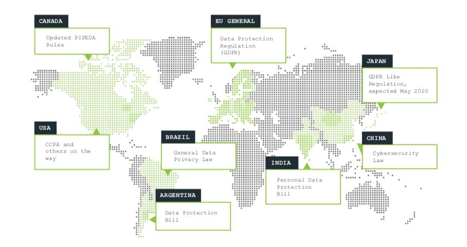 карта. законы и нормативы о конфиденциальности данных