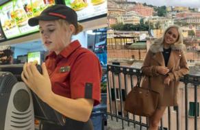 «Неловкое» фото экс-сотрудницы McDonald's убрали с фотостока