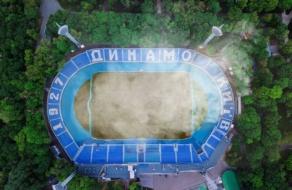 ФК «Динамо Київ» привернув увагу до проблеми випалювання сухостою, підпаливши траву на стадіоні
