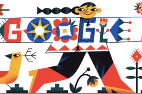 Google поздравил украинцев с Днем вышиванки праздничным дудлом