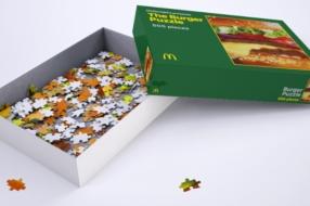 McDonald's выпустил пазл с бургером, чтобы развлечь фанатов на карантине