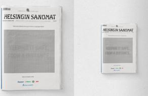 Финское издание вышло с печатной рекламой, которую можно прочитать только на расстоянии 2 метров