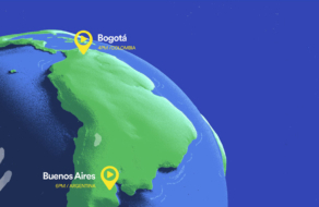 Интерактивная карта Spotify отмечает двух людей, которые одновременно слушают одну песню