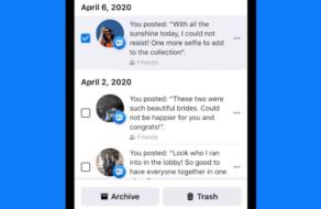 Facebook позволил удалять старые посты