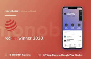Приложение monobank получило награду Red Dot 2020
