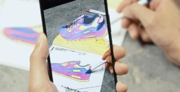 Nike предложил читателям раскрасить кроссовки Air Max и оживил их в AR