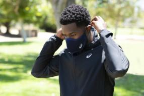 ASICS создал маску с отверстиями для бегунов