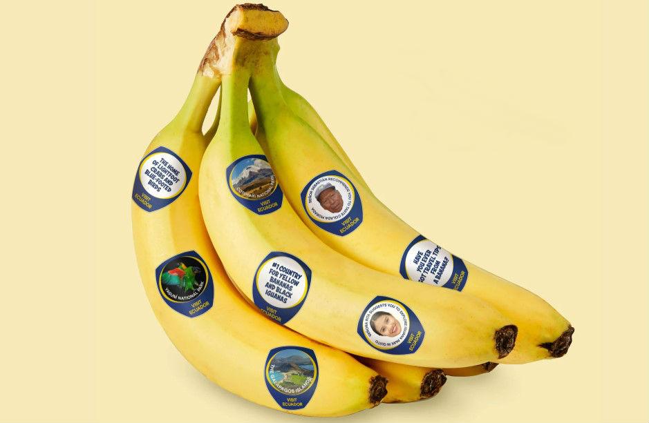 Реклама на бананах