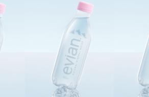 Evian выпустил бутылку из переработанного пластика и без этикетки