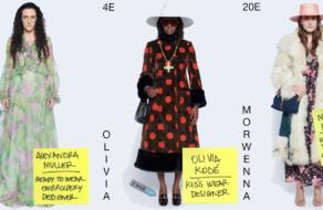 Новую коллекцию Gucci прорекламировали ее дизайнеры