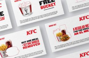 KFC предложил купоны на пустой бакет и листик салата