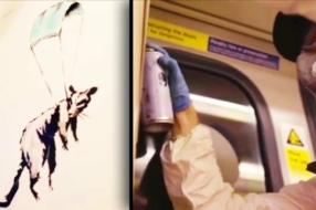 Бэнкси вдохновляет носить маски новым граффити в лондонском метро