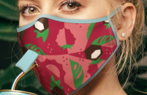 Производитель слабоалкогольных напитков создал маски, в которых можно пить