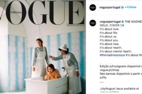 Пользователи раскритиковали обложку португальского Vogue