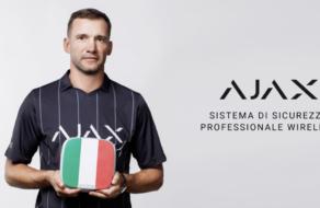 Андрій Шевченко став амбасадором Ajax Systems на італійському ринку