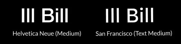 з Helvetica на San Francisco