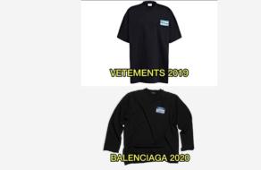 Vetements обвинила Balenciaga в краже дизайна футболки