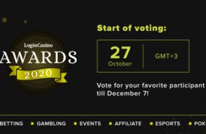 Стартовало голосование за представителей игорного бизнеса Login Casino Awards 2020