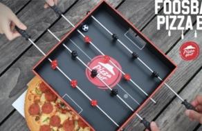 Pizza Hut интегрировала настольный футбол в упаковку для пиццы
