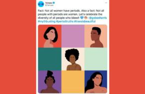 Tampax раскритиковали за твит, что «менструация бывает не только у женщин»