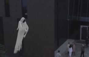 На улицах Киева полетало привидение