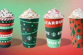 Starbucks представил рождественский дизайн стаканчиков