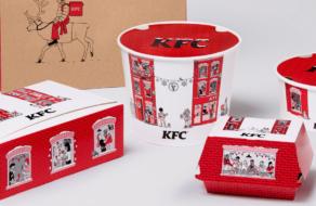 KFC выпустил рождественскую упаковку