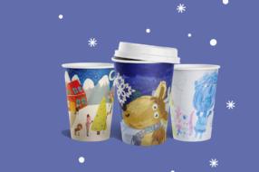 WOG выпустил вторую зимнюю коллекцию стаканчиков с рисунками детей