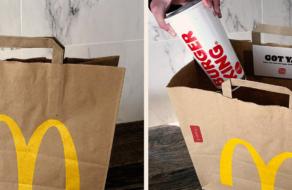 Burger King пошутил 1 апреля и доставил заказы в пакетах McDonald's